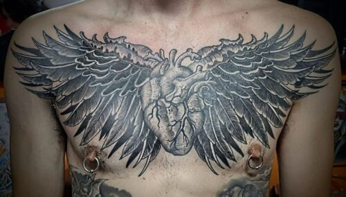 Chest piece by Jonathan Brown