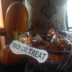 Trick or Treat smell my feet! If your out and about stop on by..candy is on the …