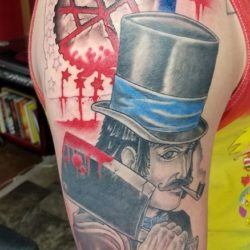 Progress on butcher bill half Freeze Sleeve