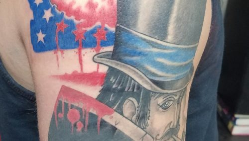 More work on butcher bill, now background filler to do. Ive always like this pie…