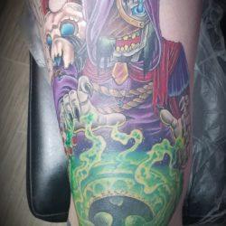 More progress on this leg sleeve